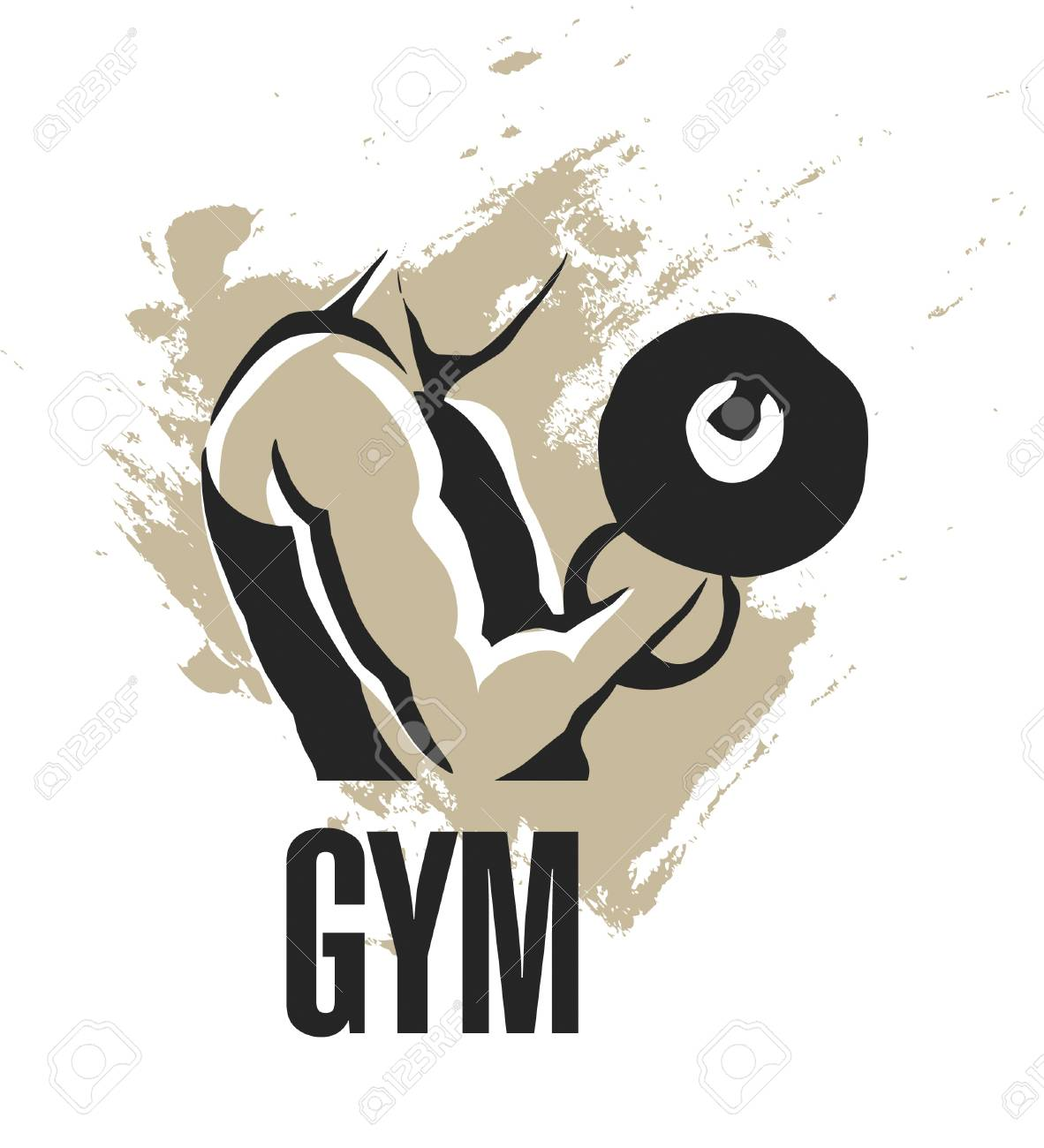body builder man working out with weights Stock Photo - 9609215