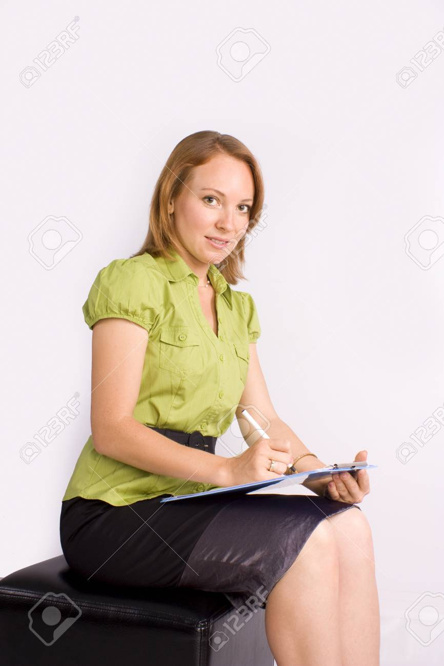 businesswoman consulting on business Stock Photo - 10019235