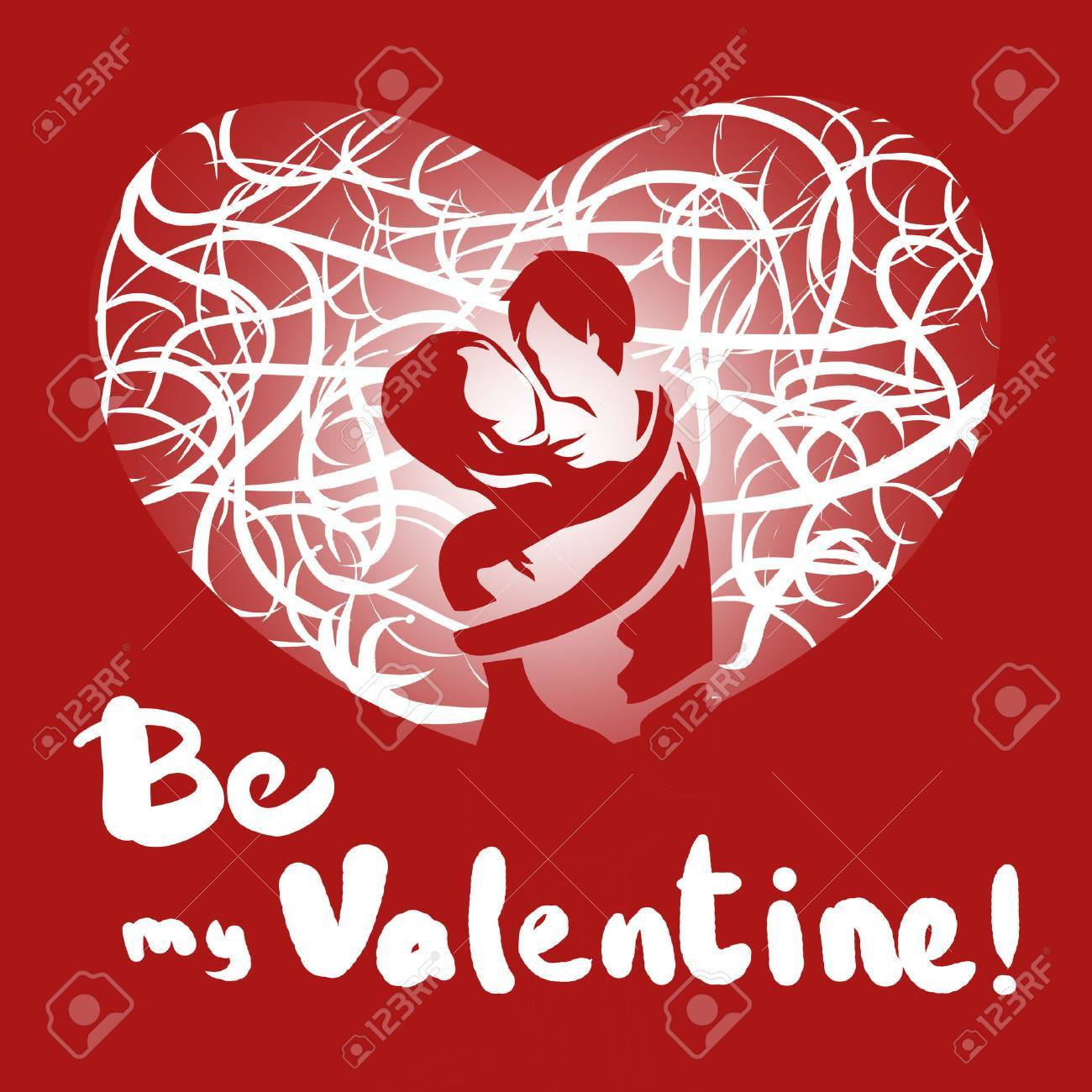be my Valentine  We are meant to be  Be mine  Words we say when in love Stock Photo - 23026029