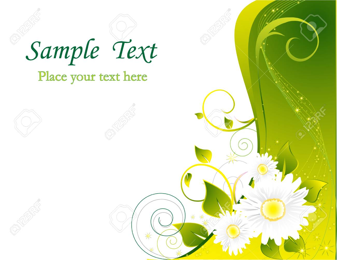 Floral background Stock Vector - 4523036