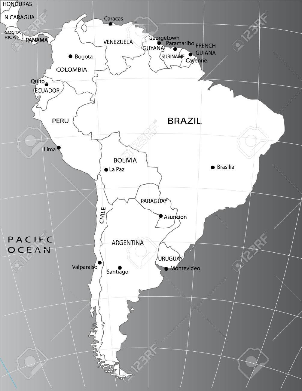 Political Map Of South America Royalty Free Cliparts Vectors And - Argentina map in south america