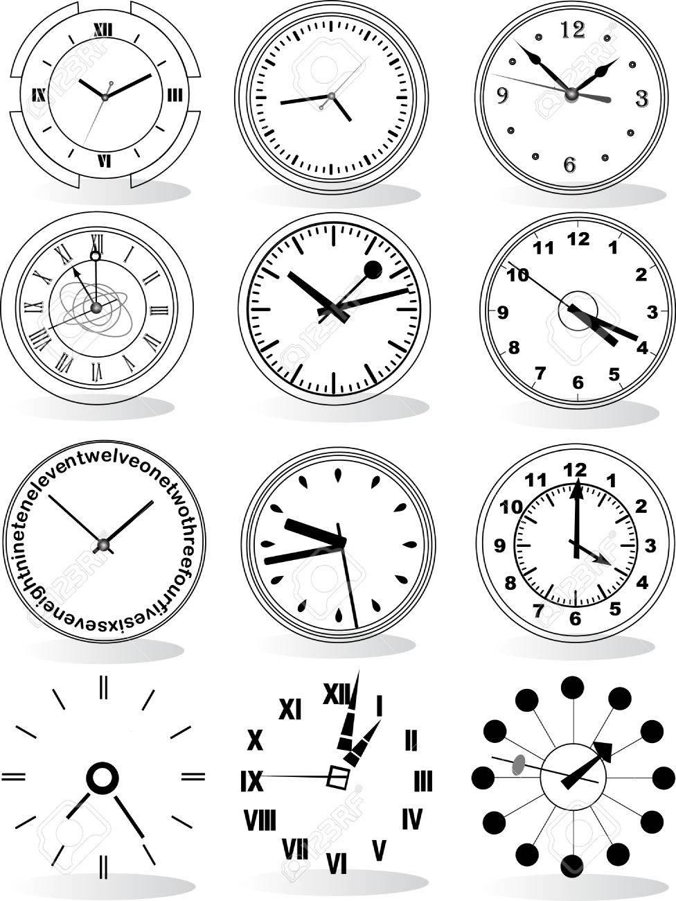 Ilustración De Distintos Relojes Relojes Los De De Los Distintos Ilustración Ilustración Fl1cJTK