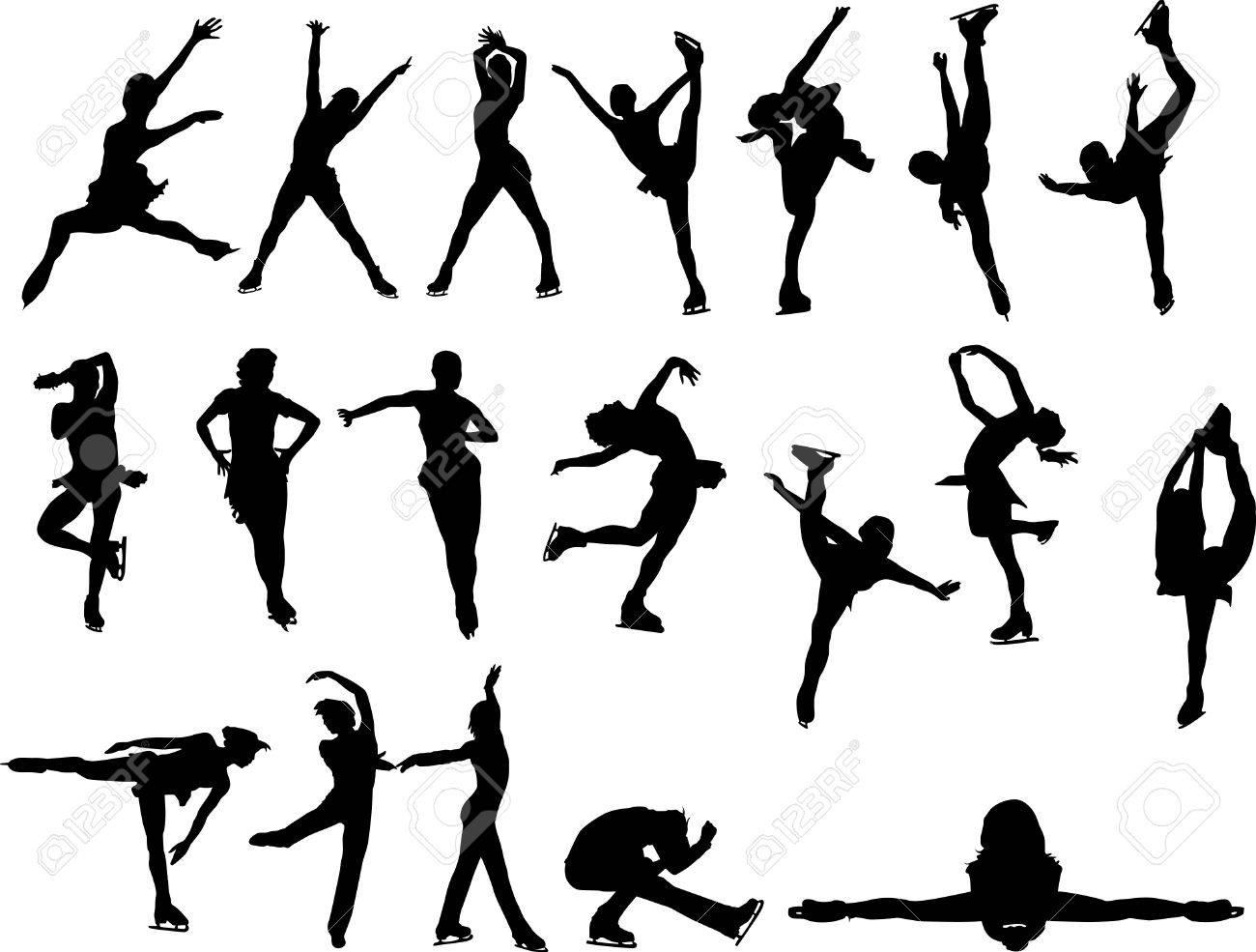 Figure Skating Silhouettes Free Figure Skating Silhouettes