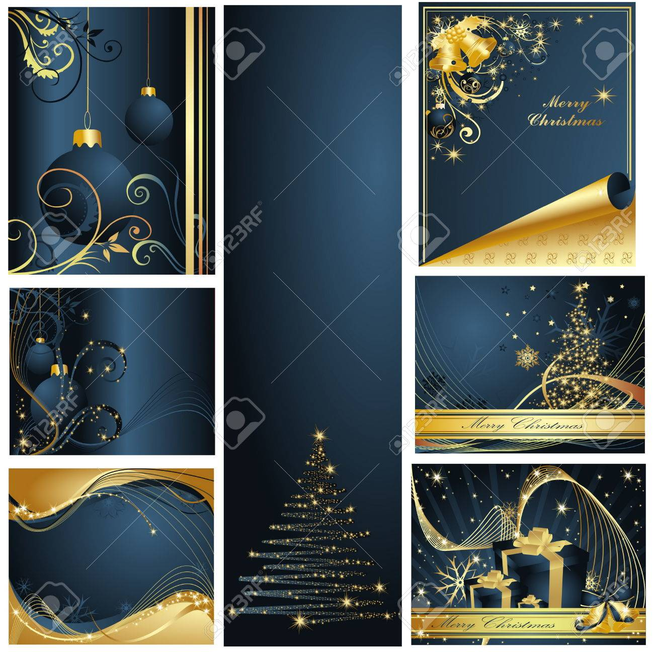 Merry Christmas and Happy New Year collection Stock Vector - 6120473