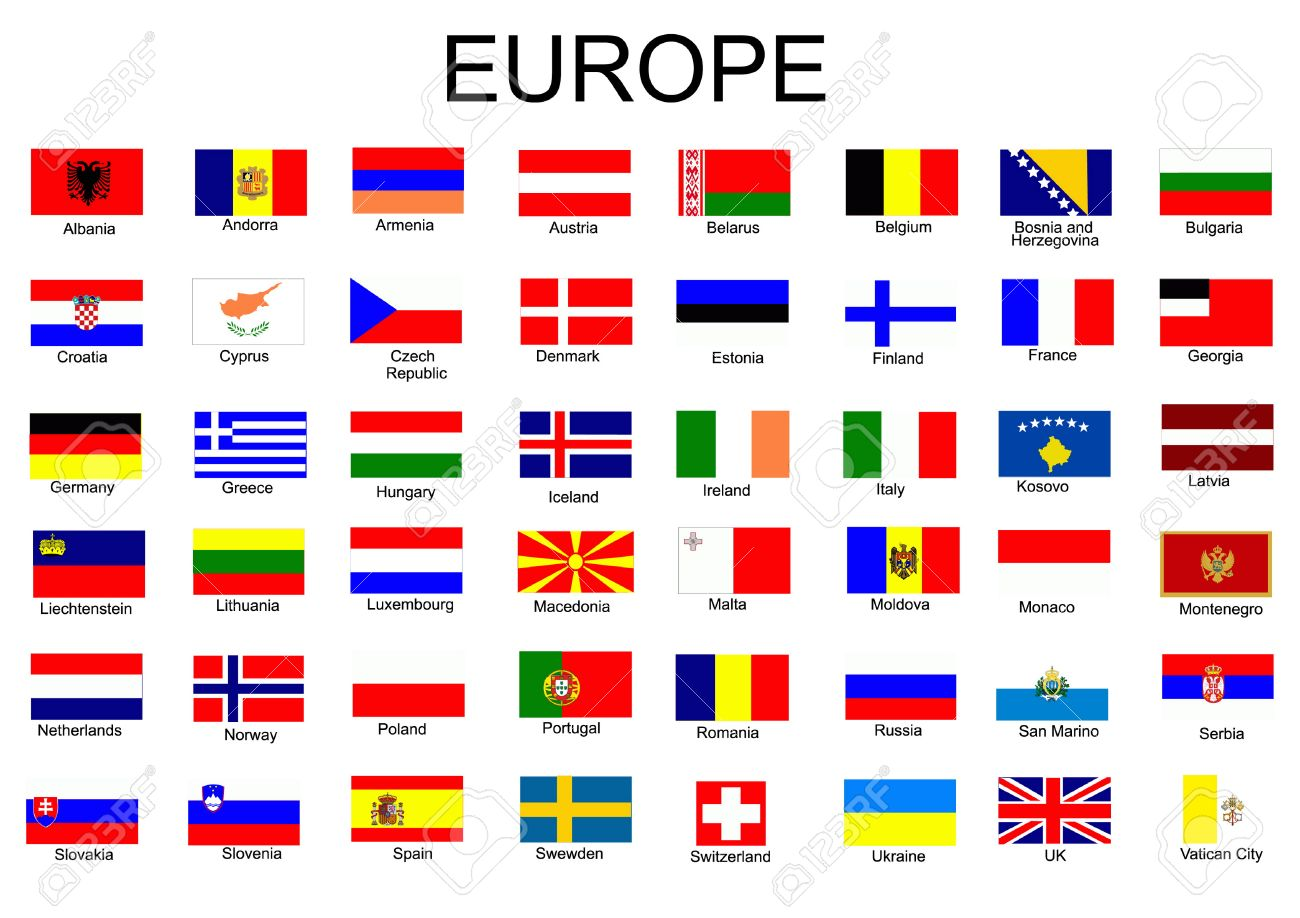 List Of All European Country Flags Royalty Free Cliparts, Vectors ...