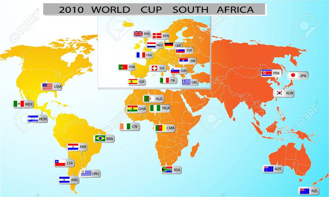 2010 world cup south africa royalty free cliparts vectors and