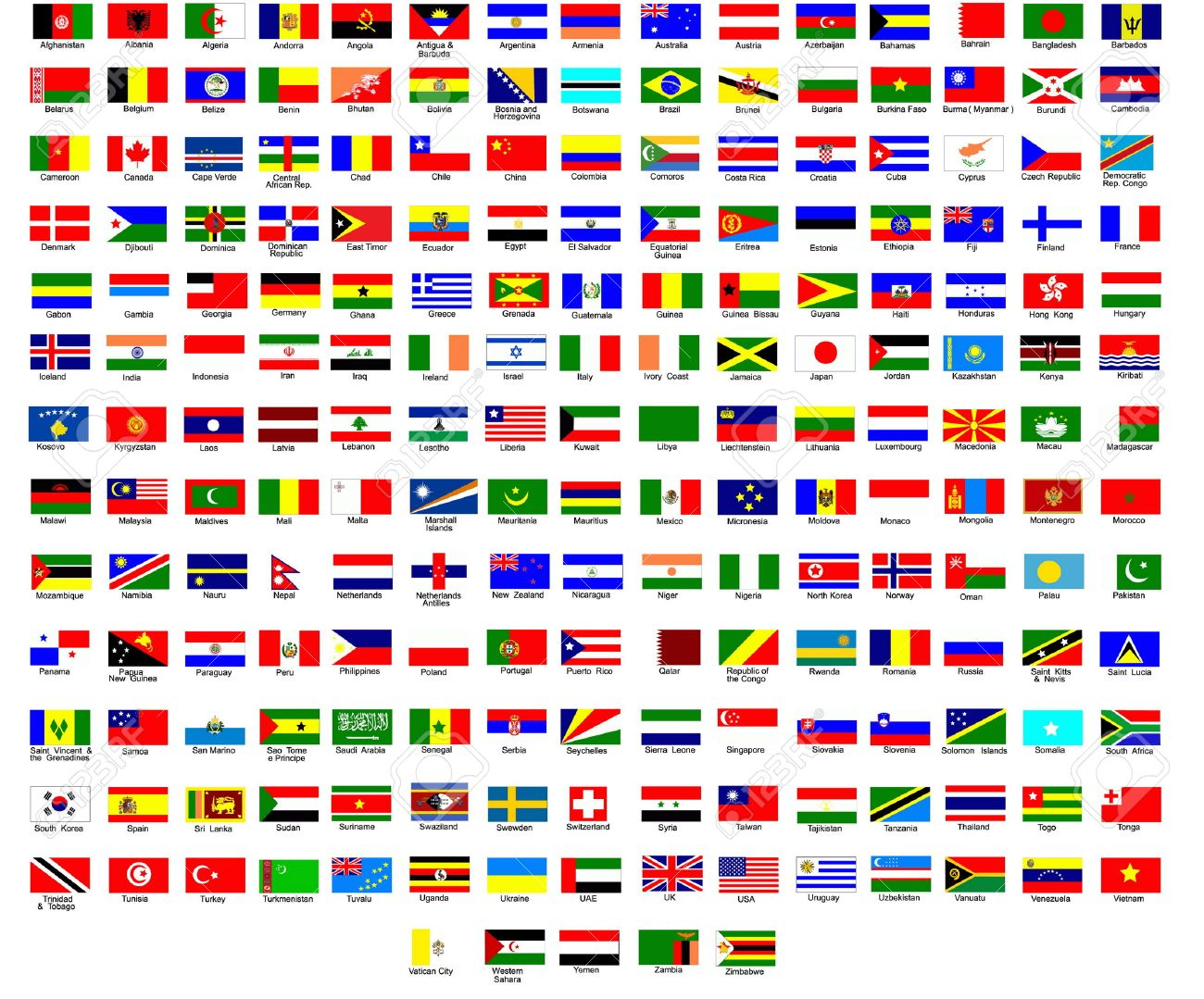 flags of all countries in the world royalty free cliparts vectors