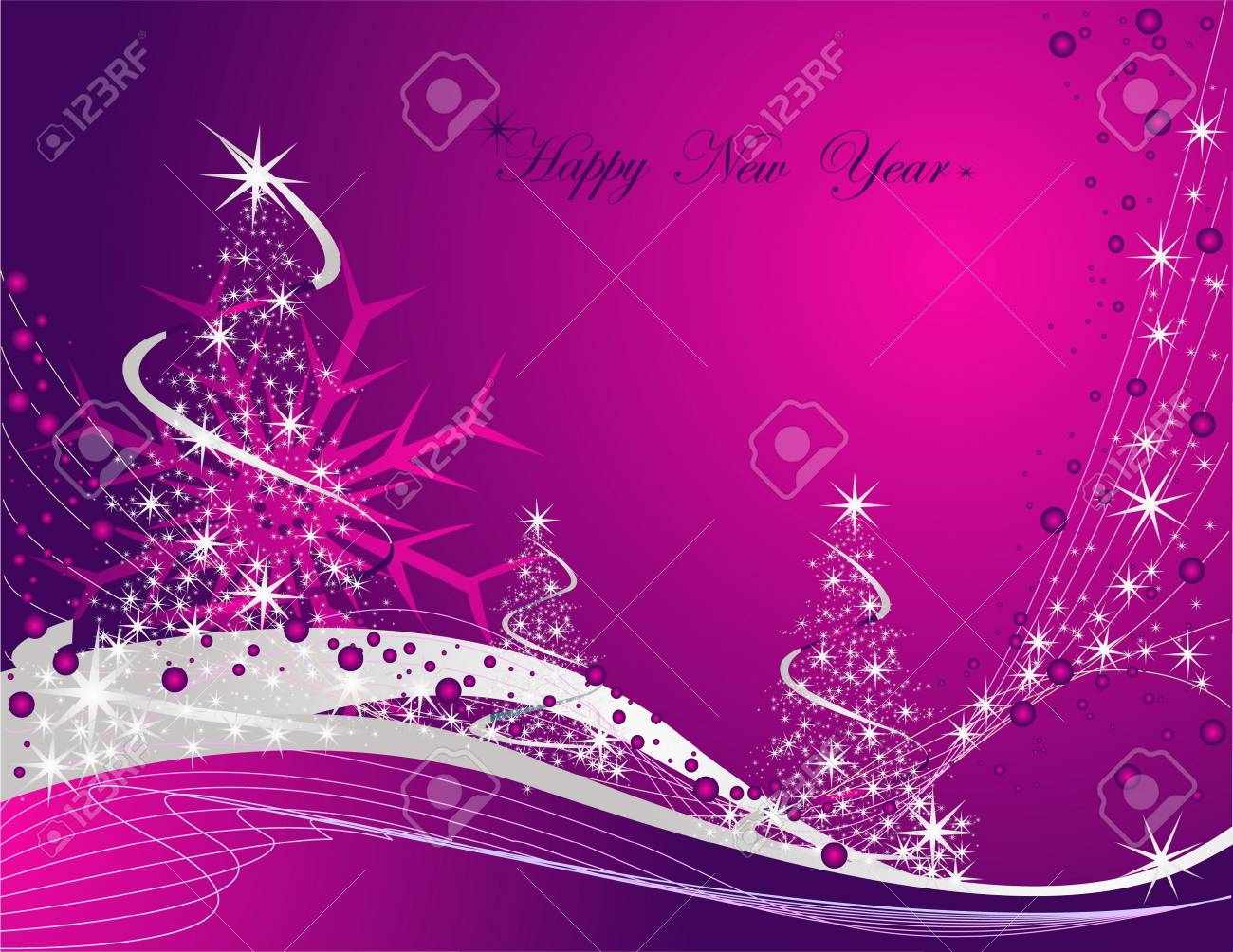 Happy New Year background Stock Vector - 7856201