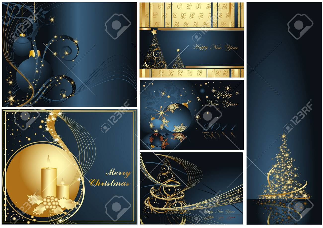 Merry Christmas and Happy New Year collection Stock Vector - 8310493