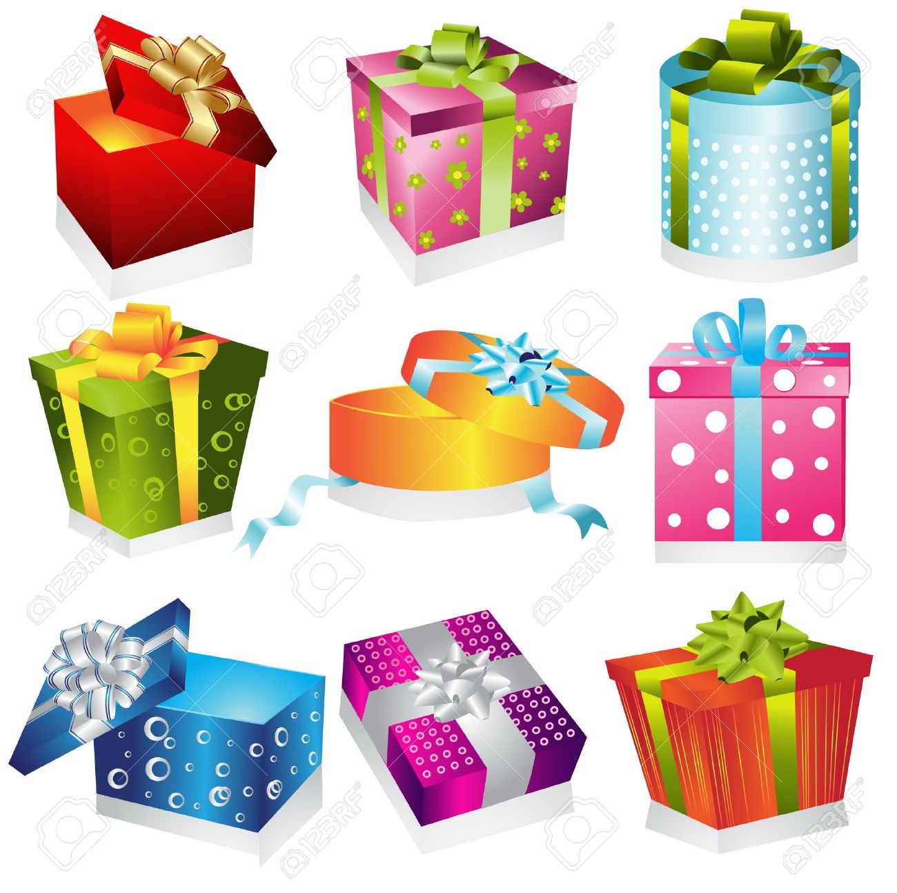 Different Gifts Illustration Royalty Free Cliparts, Vectors, And ...