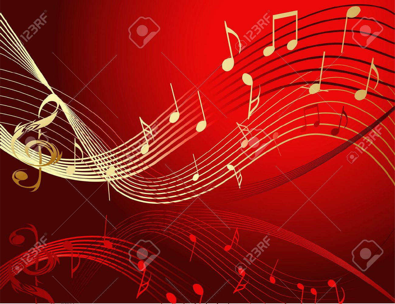 Background image music - Background With Music Notes Stock Vector 8594913
