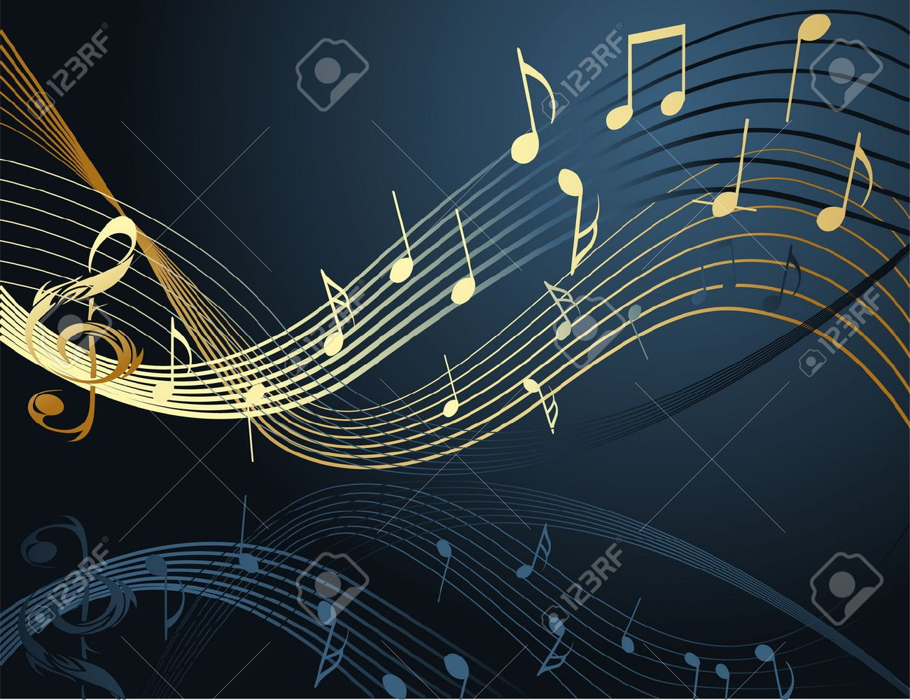 Background with music notes Stock Vector - 8594914