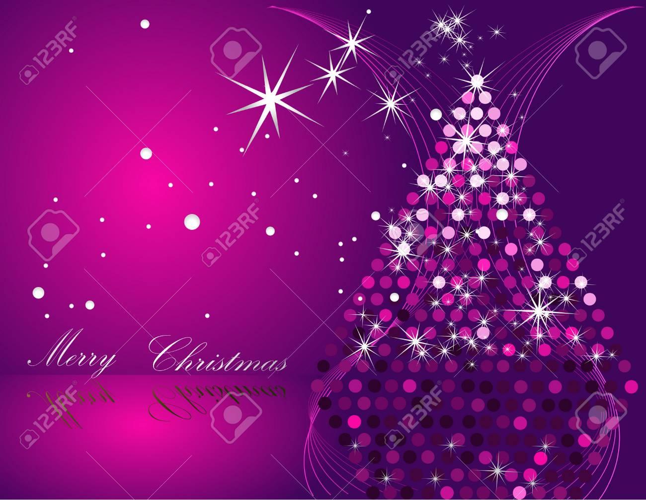 Albero Di Natale Rosa.Albero Di Natale Rosa E Argento