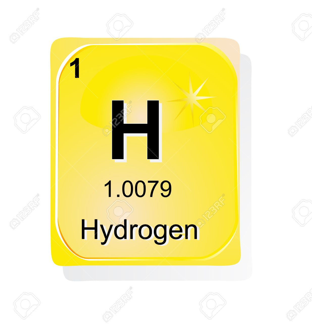Hydrogen chemical element with atomic number symbol and weight hydrogen chemical element with atomic number symbol and weight stock vector 24509702 gamestrikefo Images