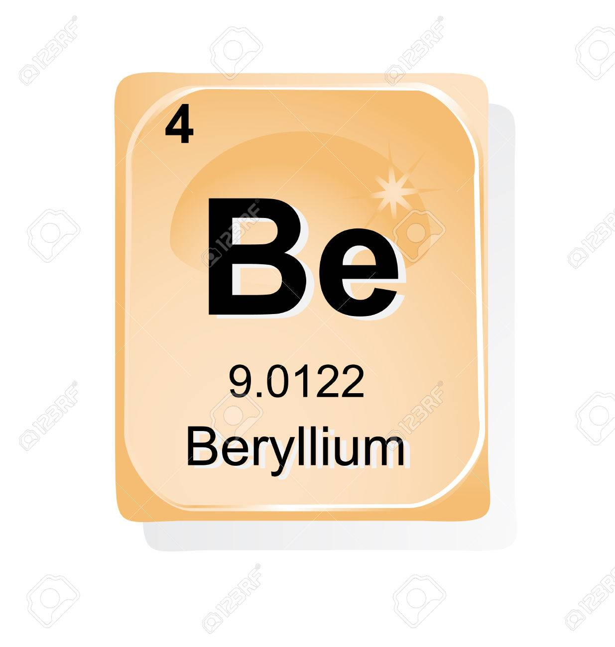 Beryllium chemical element with atomic number symbol and weight beryllium chemical element with atomic number symbol and weight stock vector 24509705 buycottarizona Image collections