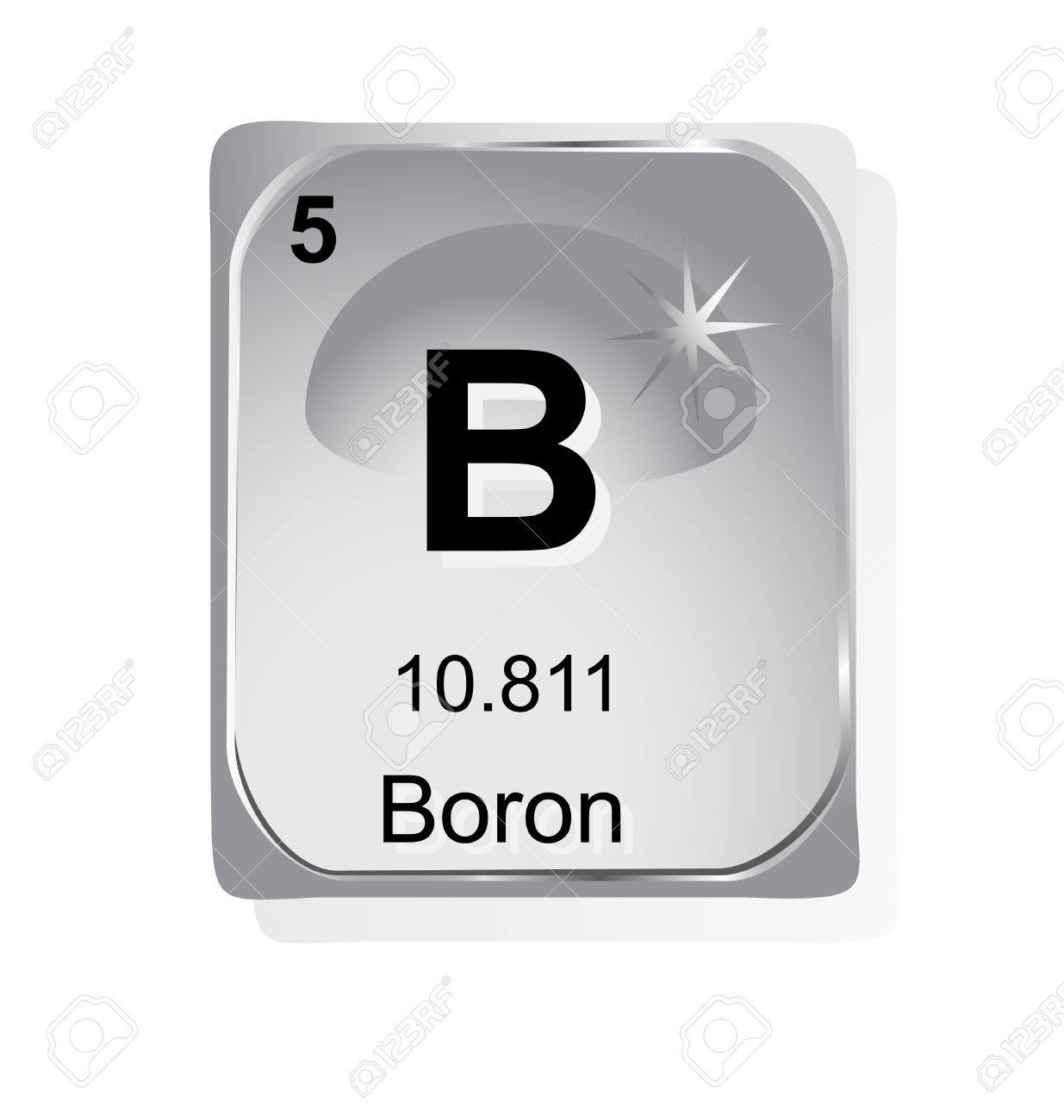 Boron chemical element with atomic number symbol and weight royalty boron chemical element with atomic number symbol and weight stock vector 24509706 buycottarizona Images