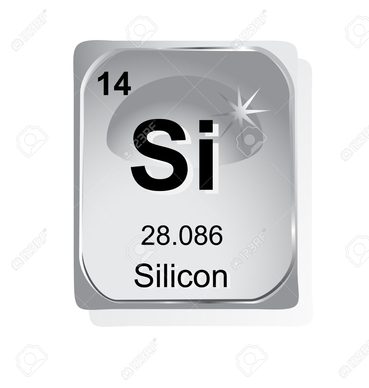 Silicon chemical element with atomic number symbol and weight silicon chemical element with atomic number symbol and weight stock vector 24509727 gamestrikefo Gallery