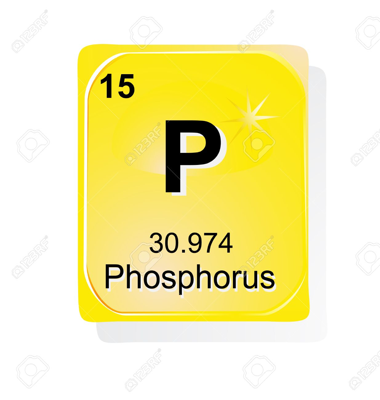 Phosphorus Chemical Element With Atomic Number Symbol And Weight