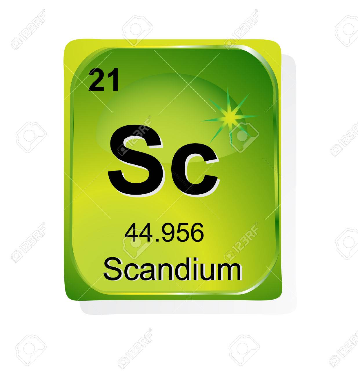 Scandium chemical element with atomic number, symbol and weight Stock Vector - 24509734