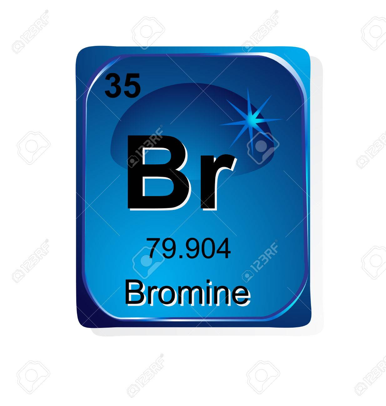 Bromine chemical element with atomic number symbol and weight bromine chemical element with atomic number symbol and weight stock vector 24509759 biocorpaavc