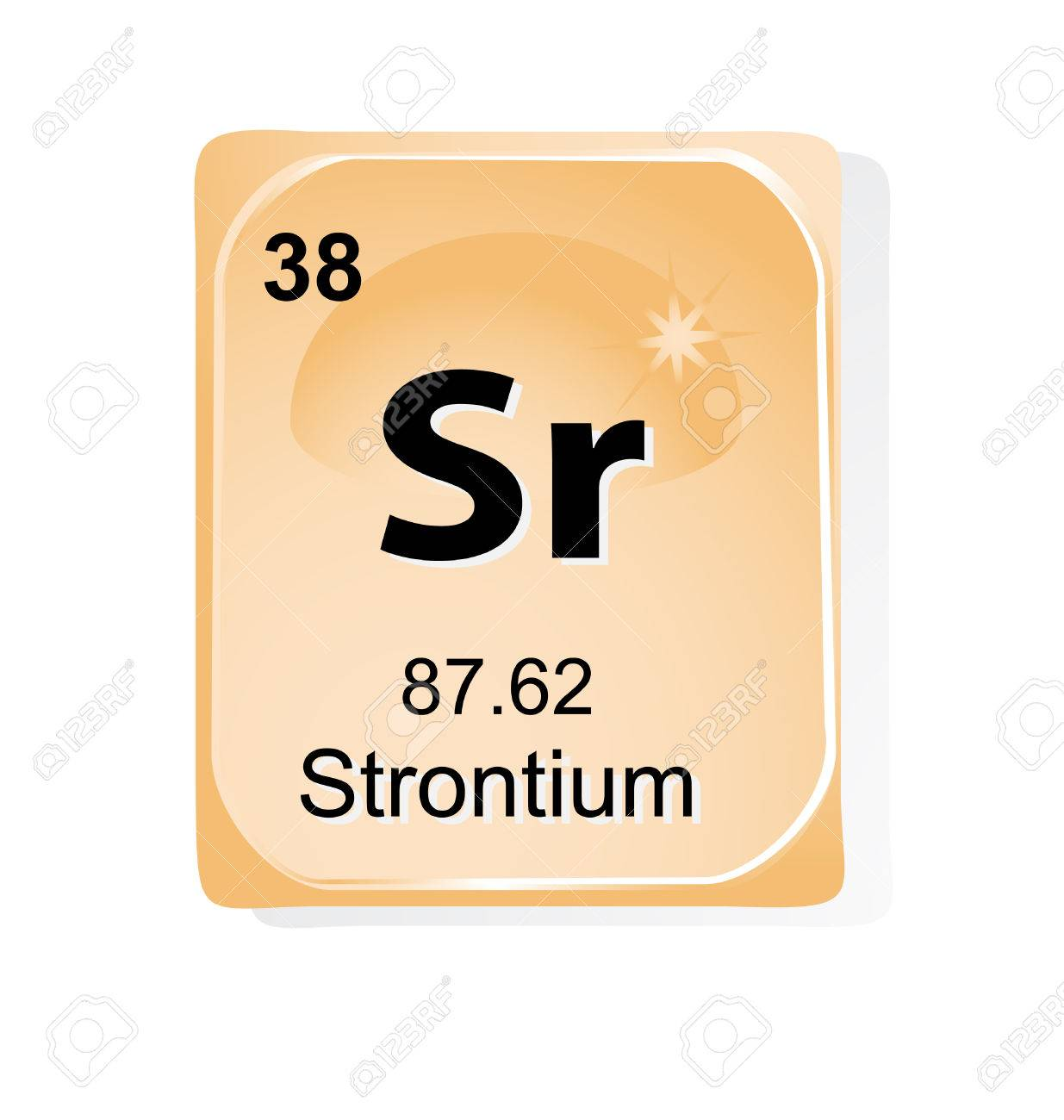 Strontium chemical element with atomic number, symbol and weight Stock Vector - 24509762