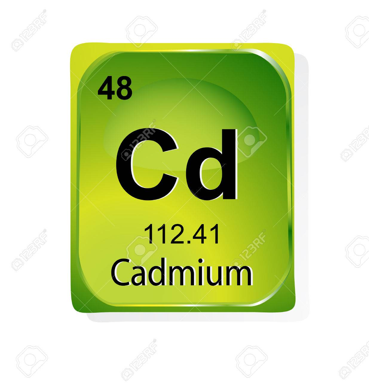 Cadmium Chemical Element With Atomic Number Symbol And Weight