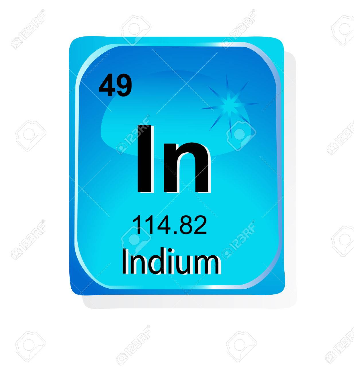 Indium chemical element with atomic number symbol and weight indium chemical element with atomic number symbol and weight stock vector 24509808 biocorpaavc Images
