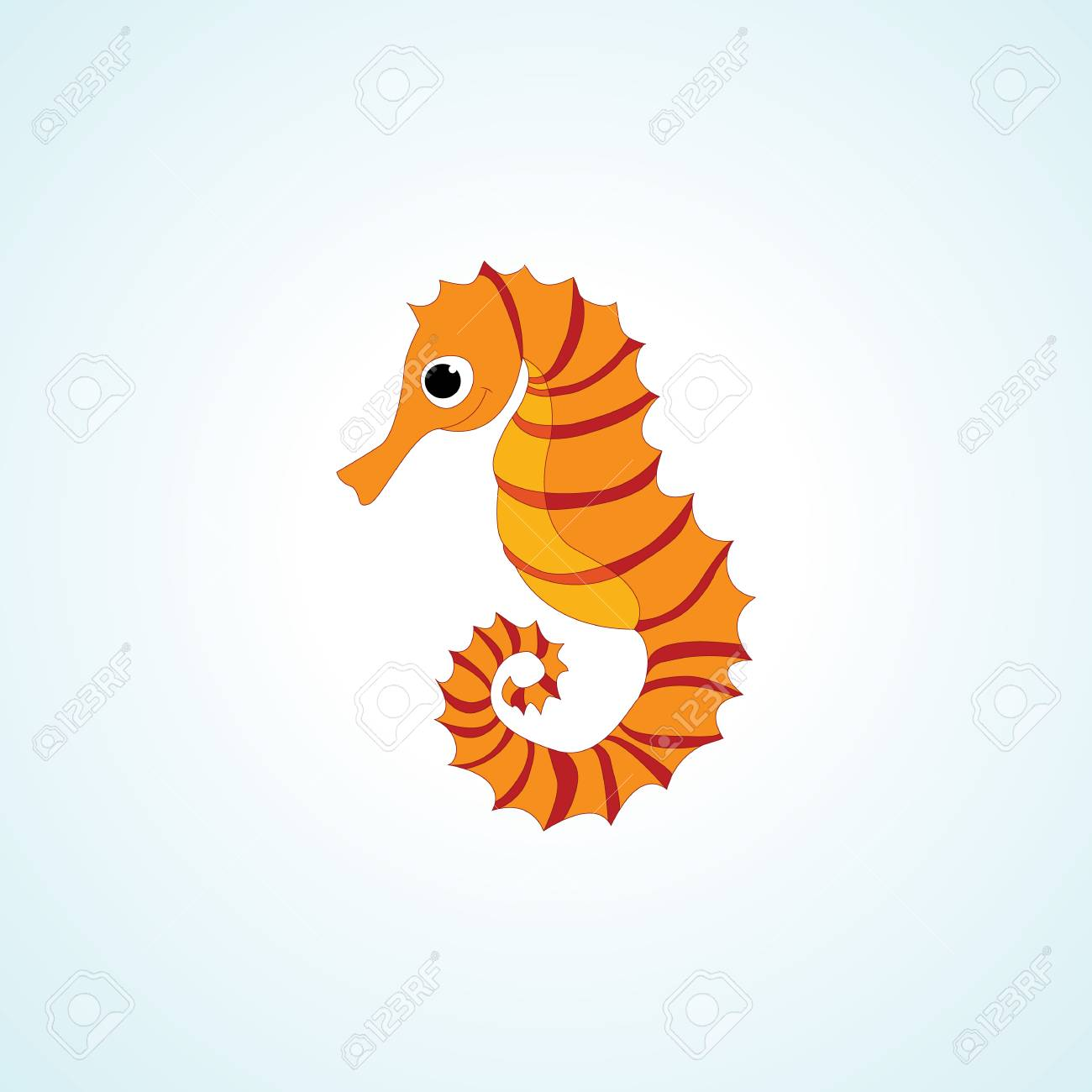 Cute Seahorse Isolated Vector Drawing Cartoon Style Royalty Free Cliparts Vectors And Stock Illustration Image 78757809