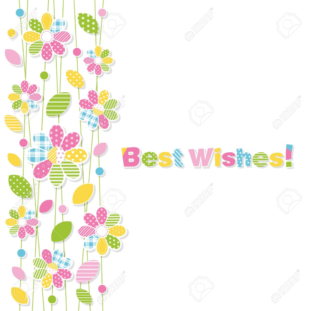 Best wishes flowery greeting card royalty free cliparts vectors best wishes flowery greeting card stock vector 32692175 m4hsunfo