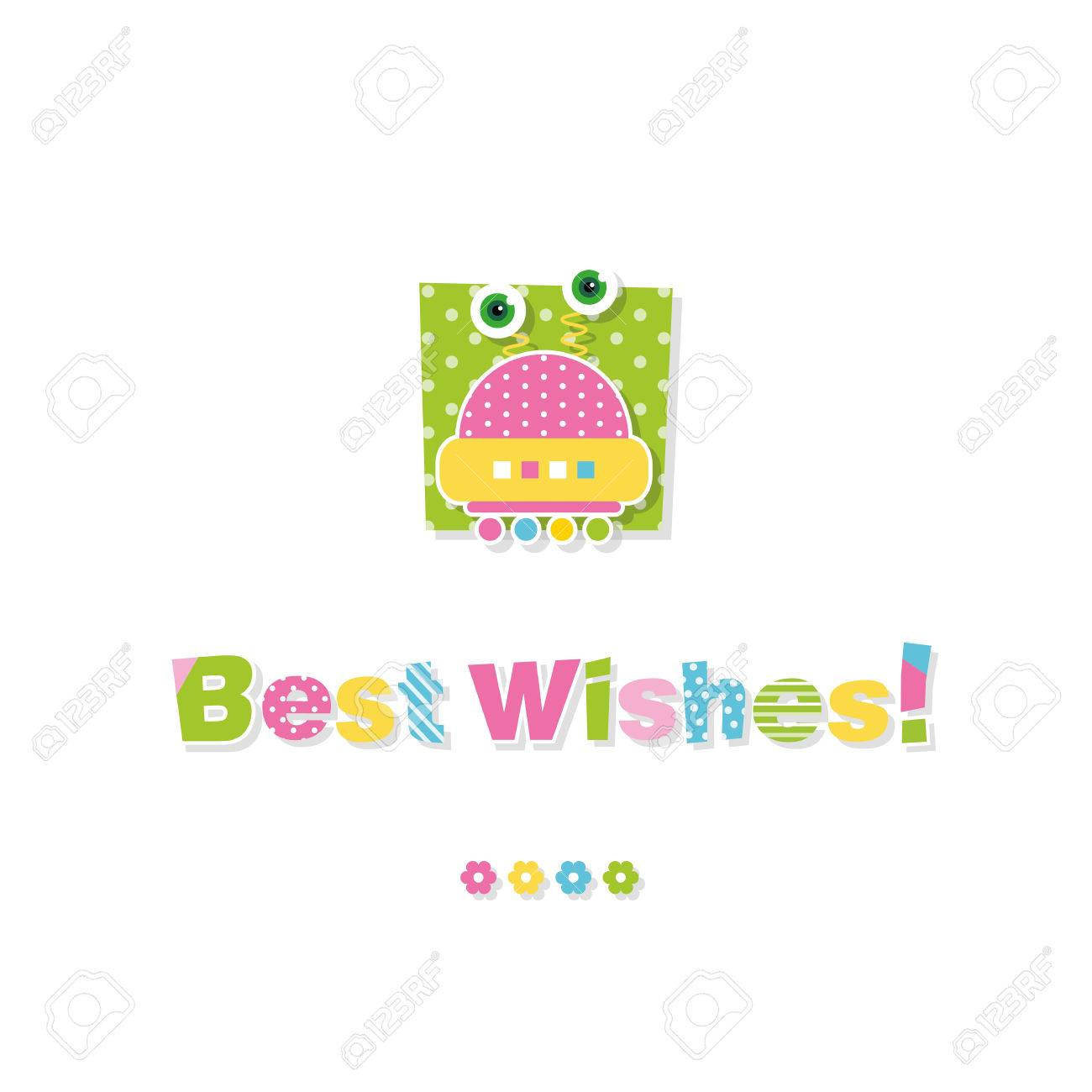 Cute baby robot best wishes greeting card royalty free cliparts cute baby robot best wishes greeting card stock vector 32699984 m4hsunfo