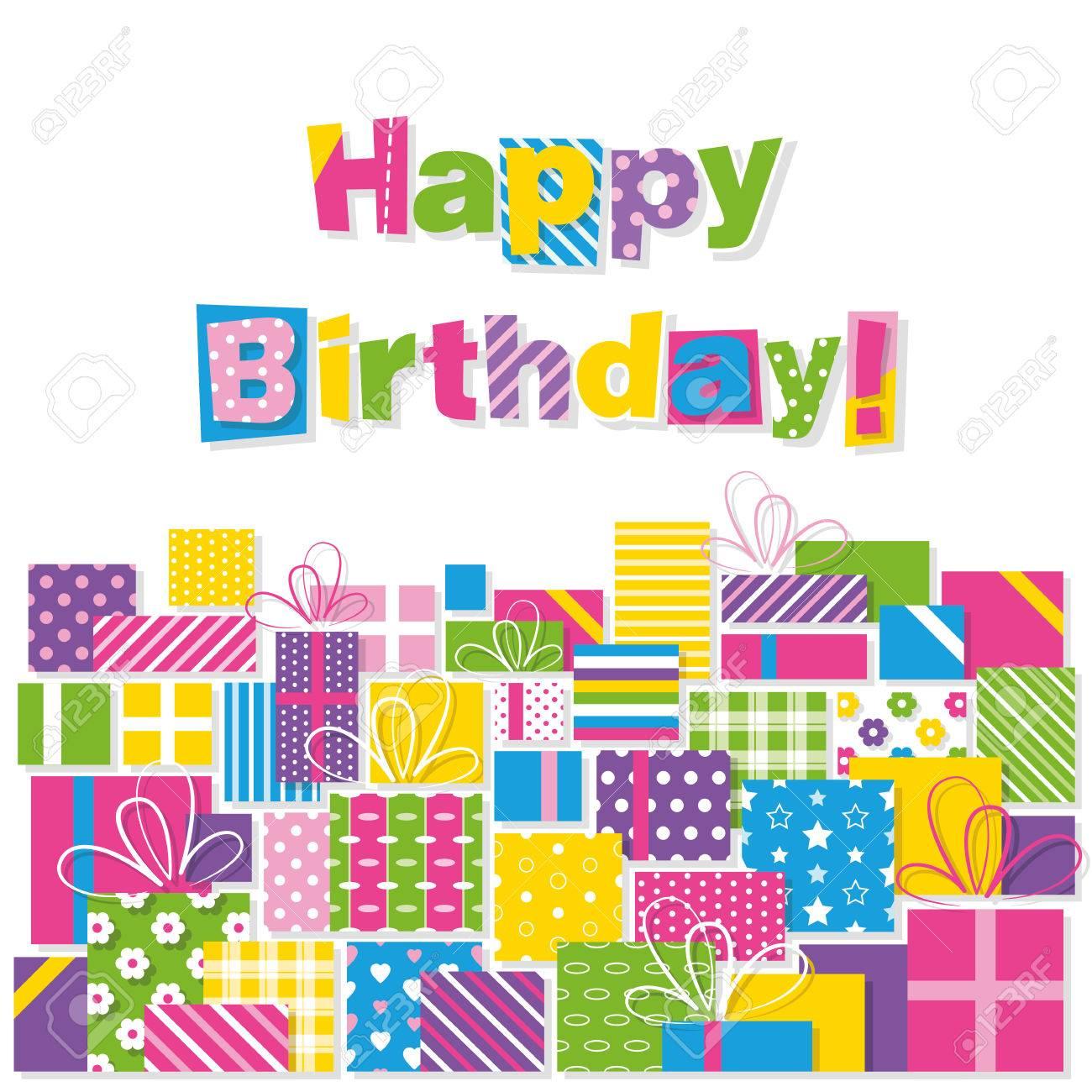 Images of happy birthday presents
