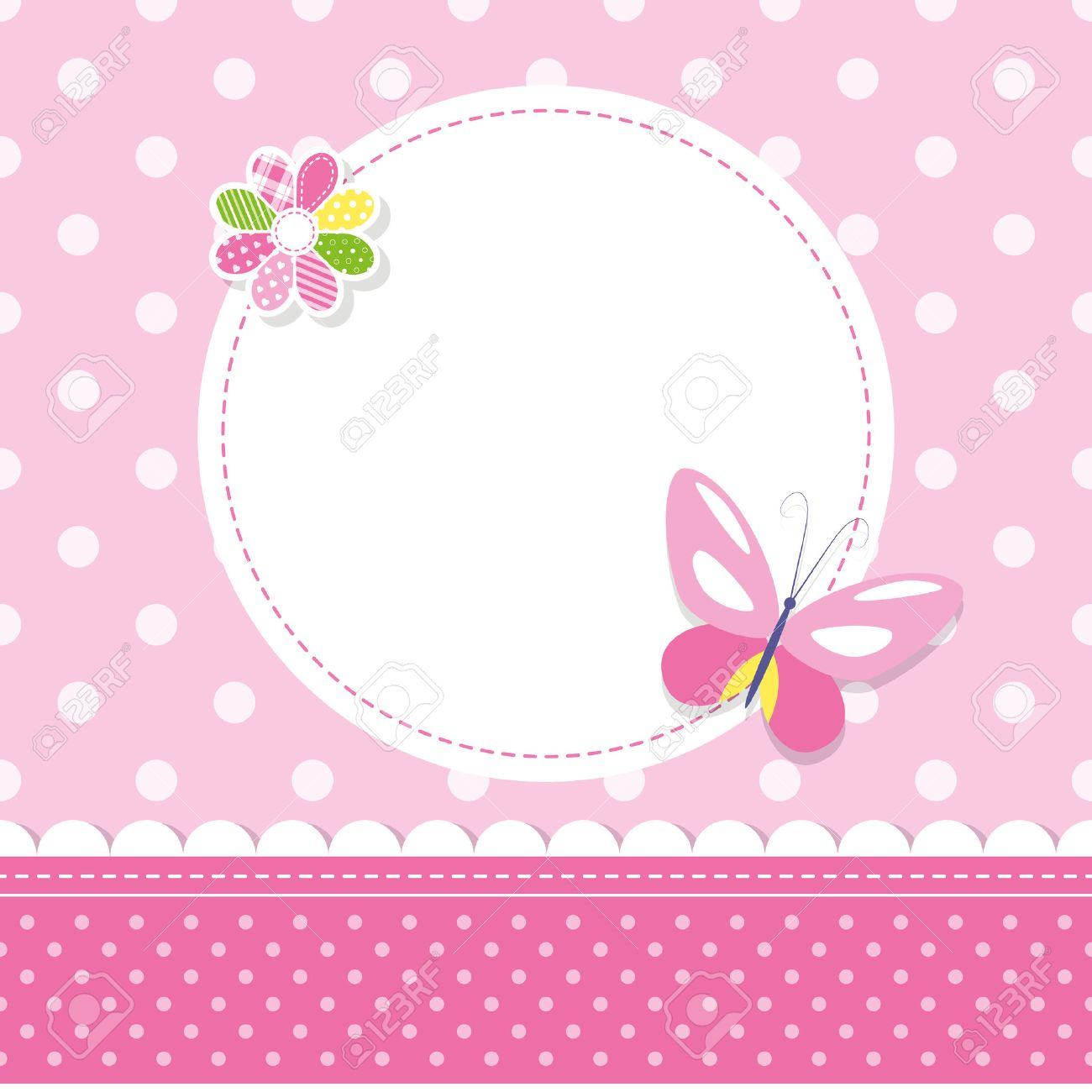 Pink butterfly baby girl greeting card royalty free cliparts pink butterfly baby girl greeting card stock vector 36742276 kristyandbryce Images