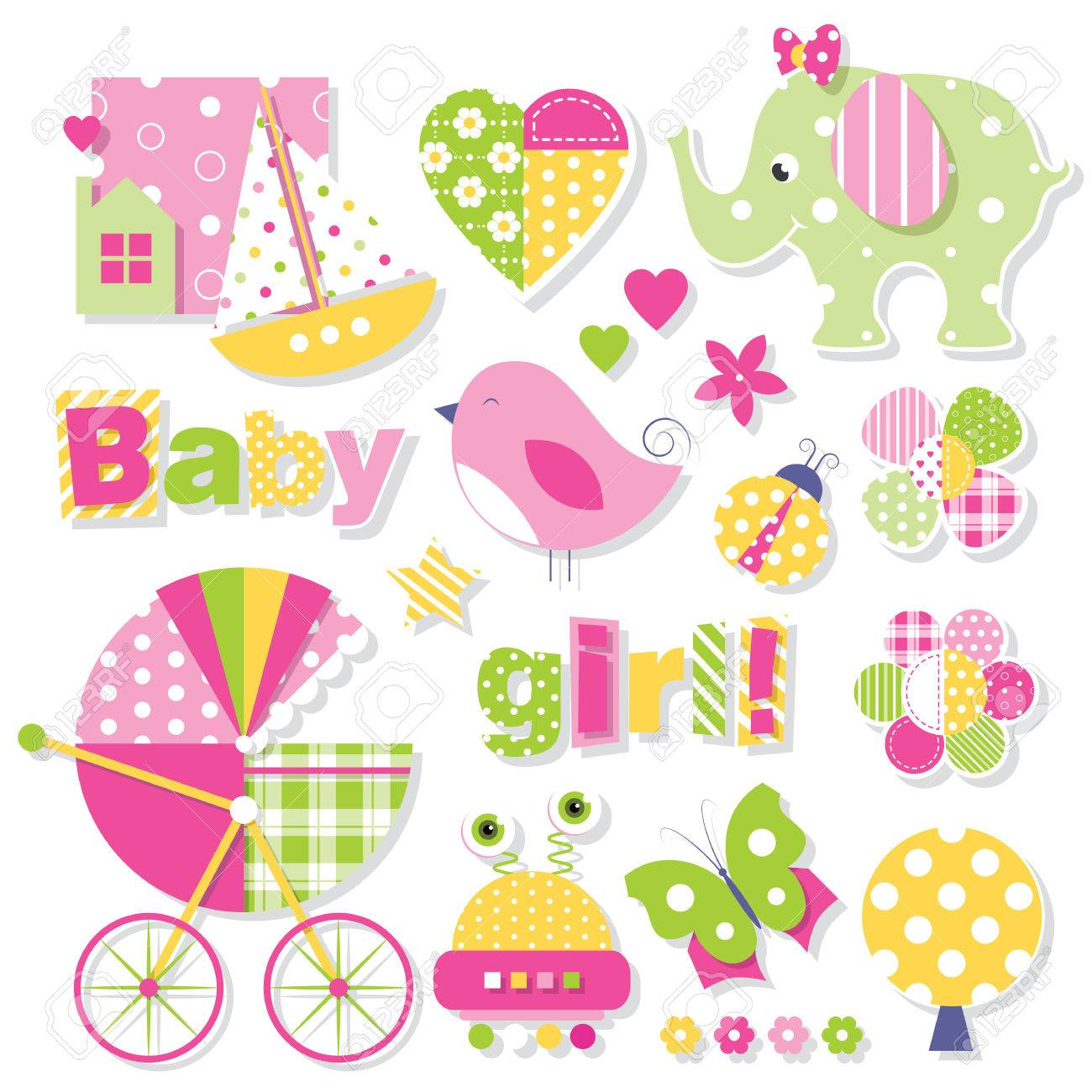 baby girl shower collection - 53317049