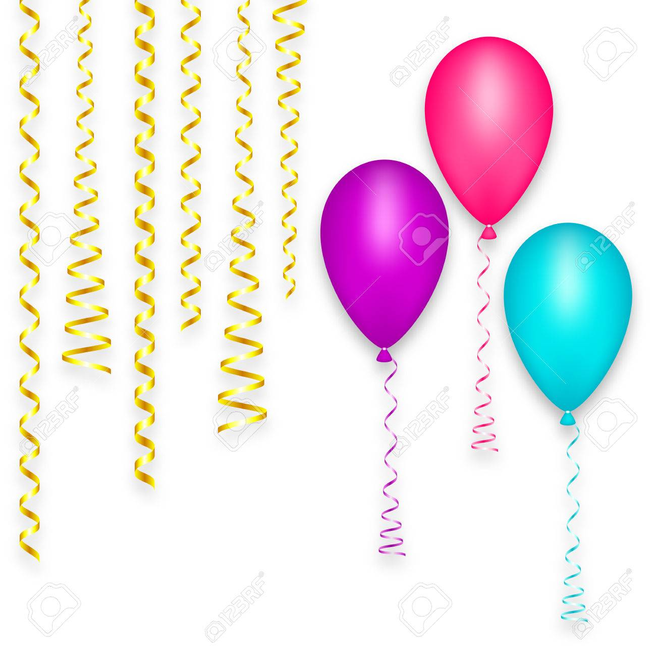 Design Greeting Card Background Balloon Happy Birthday Party