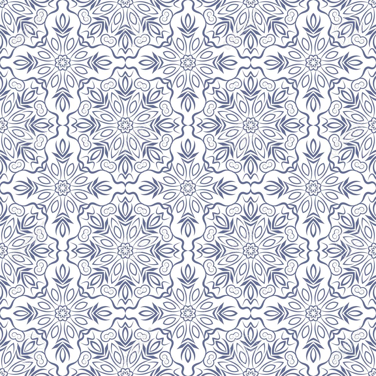 Indian pattern  Arabic, islamic, japanese motifs  Mandala seamless