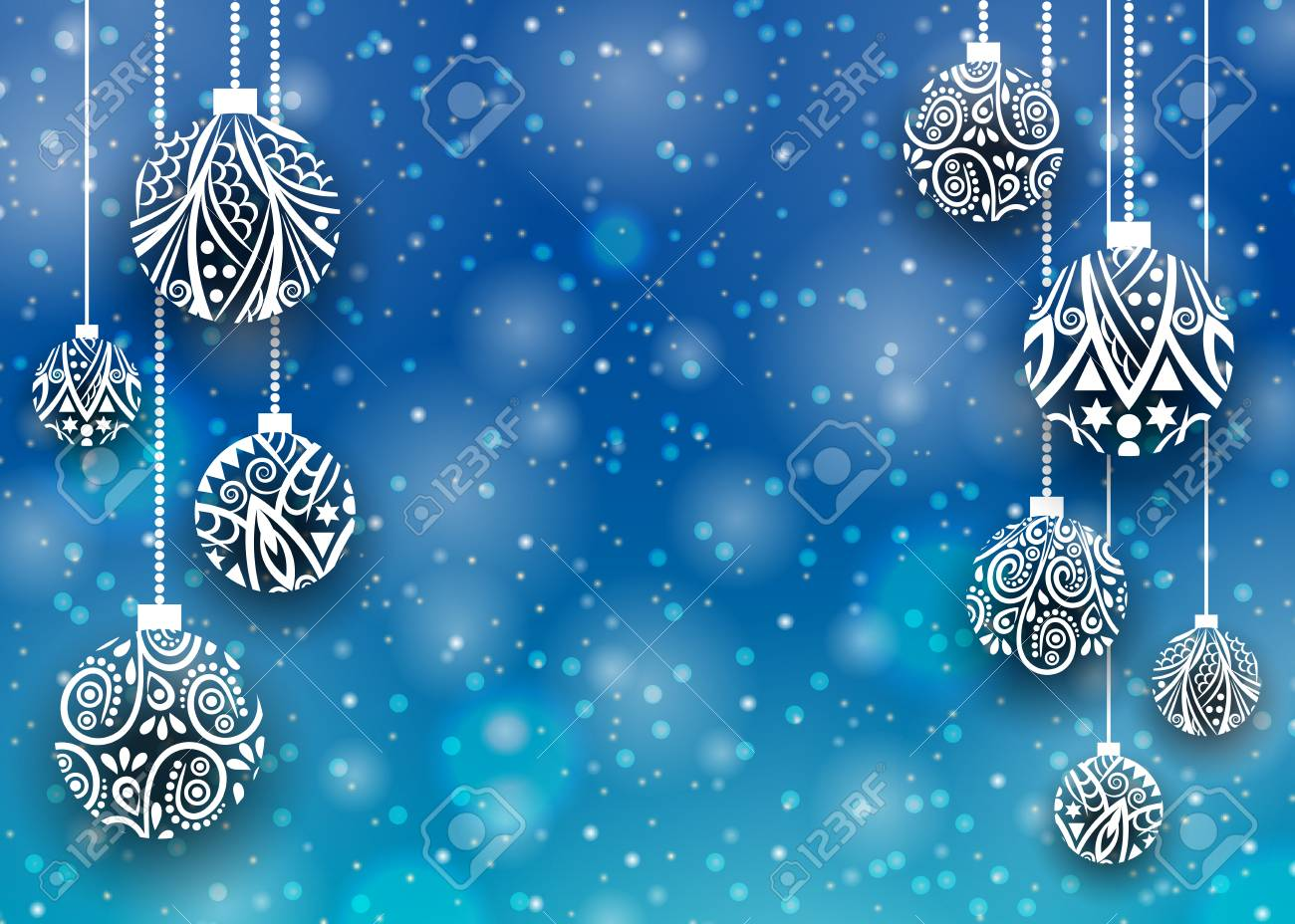 merry christmas and happy new year background christmas snow
