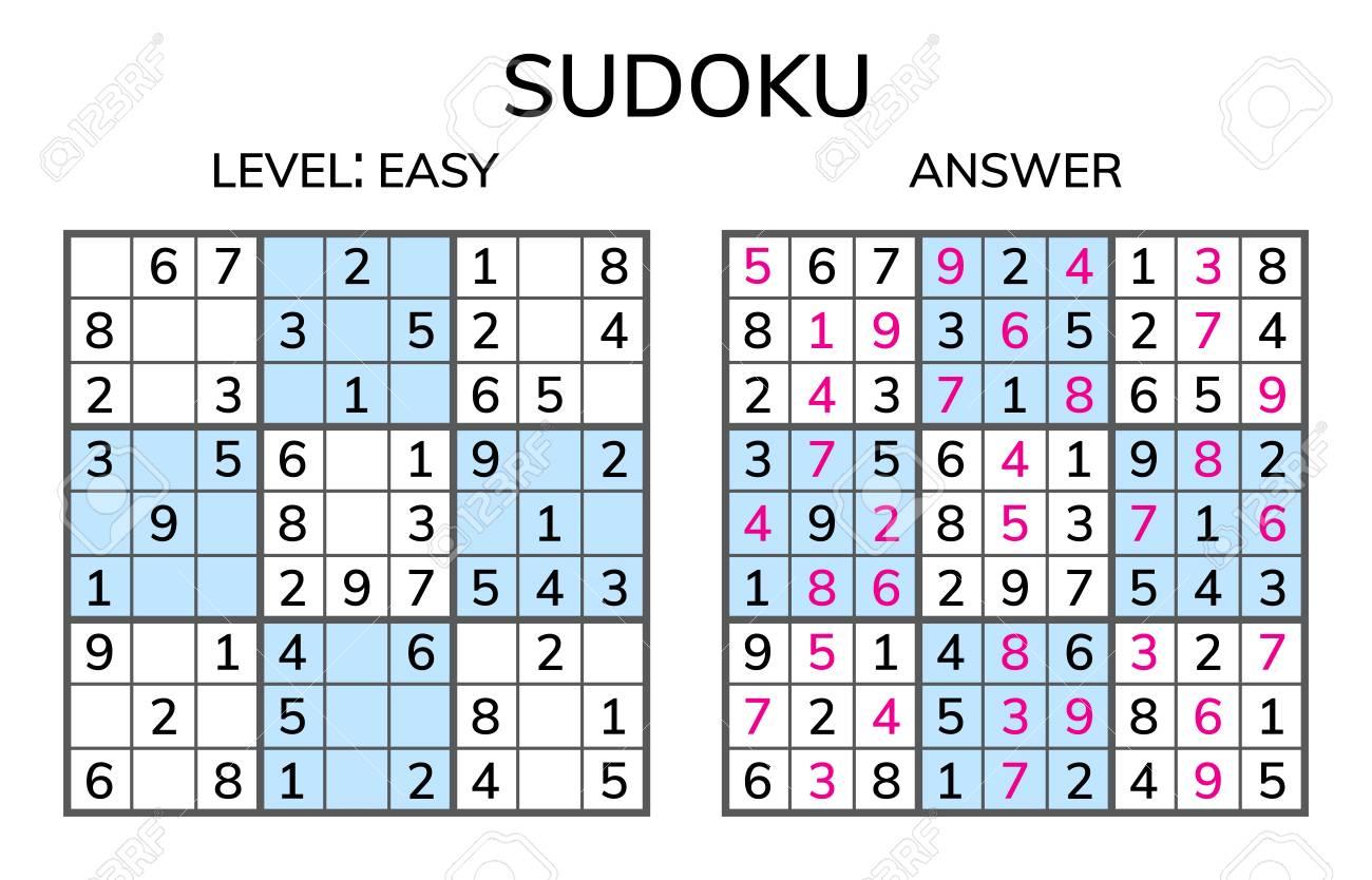 Sudoku. Kids And Adult Mathematical Mosaic. Magic Square. Logic ...