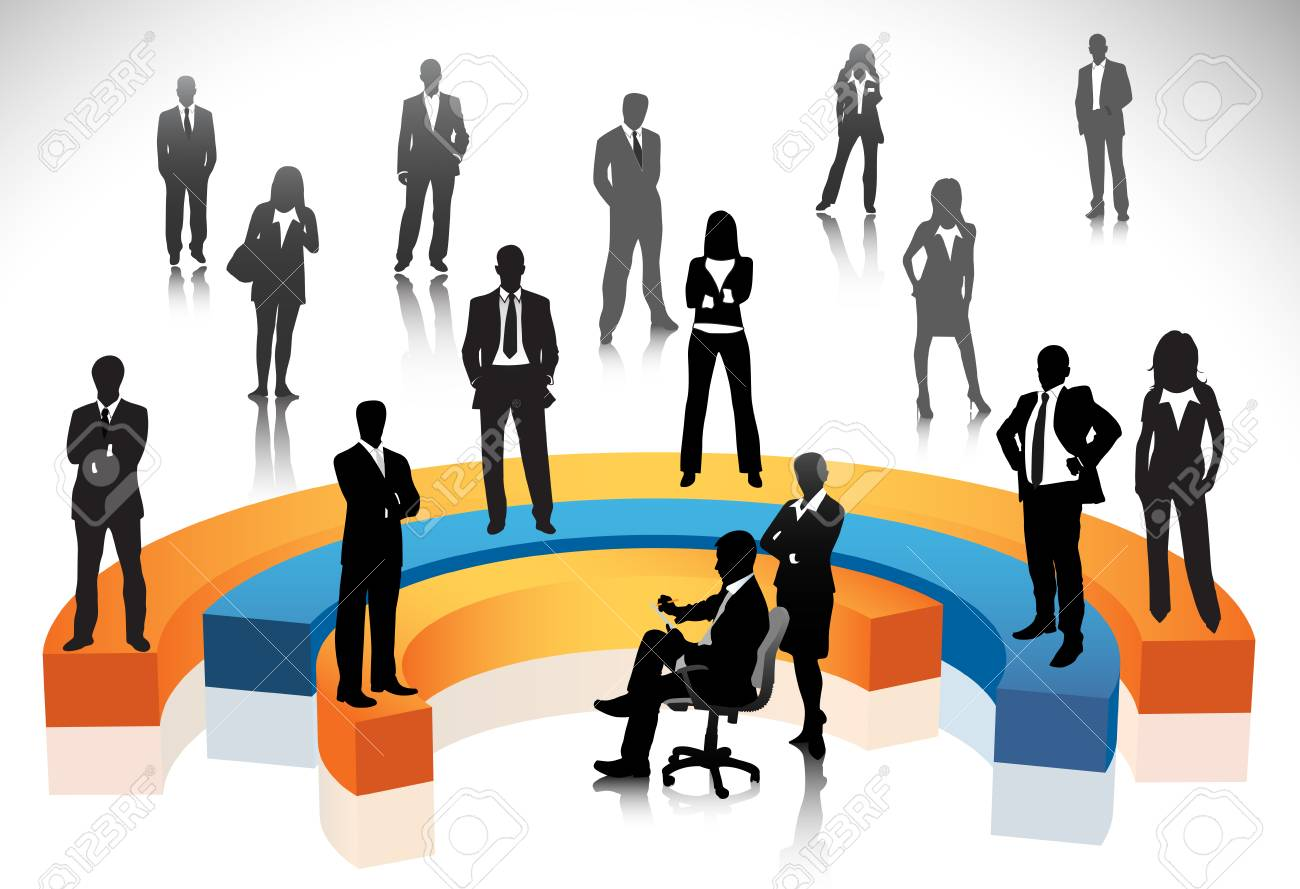 Vector illustration of business people Stock Vector - 24592611