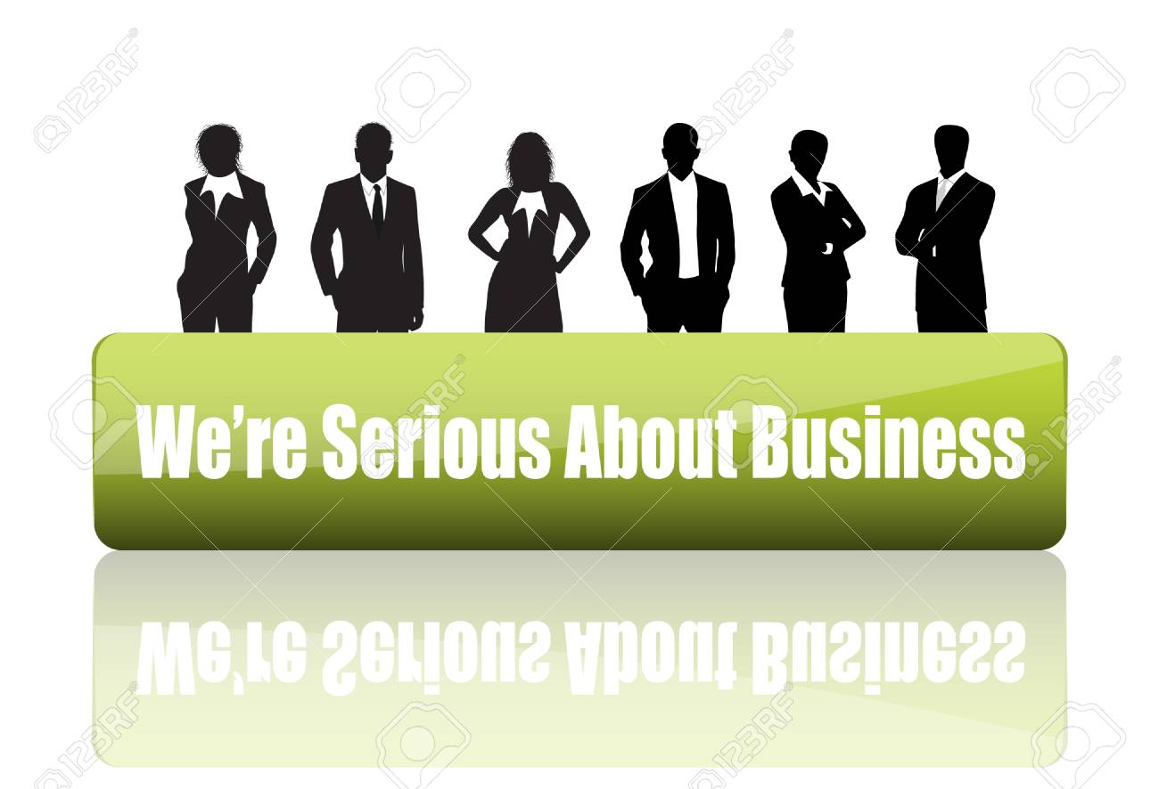 Vector illustration of business people Stock Vector - 24592872