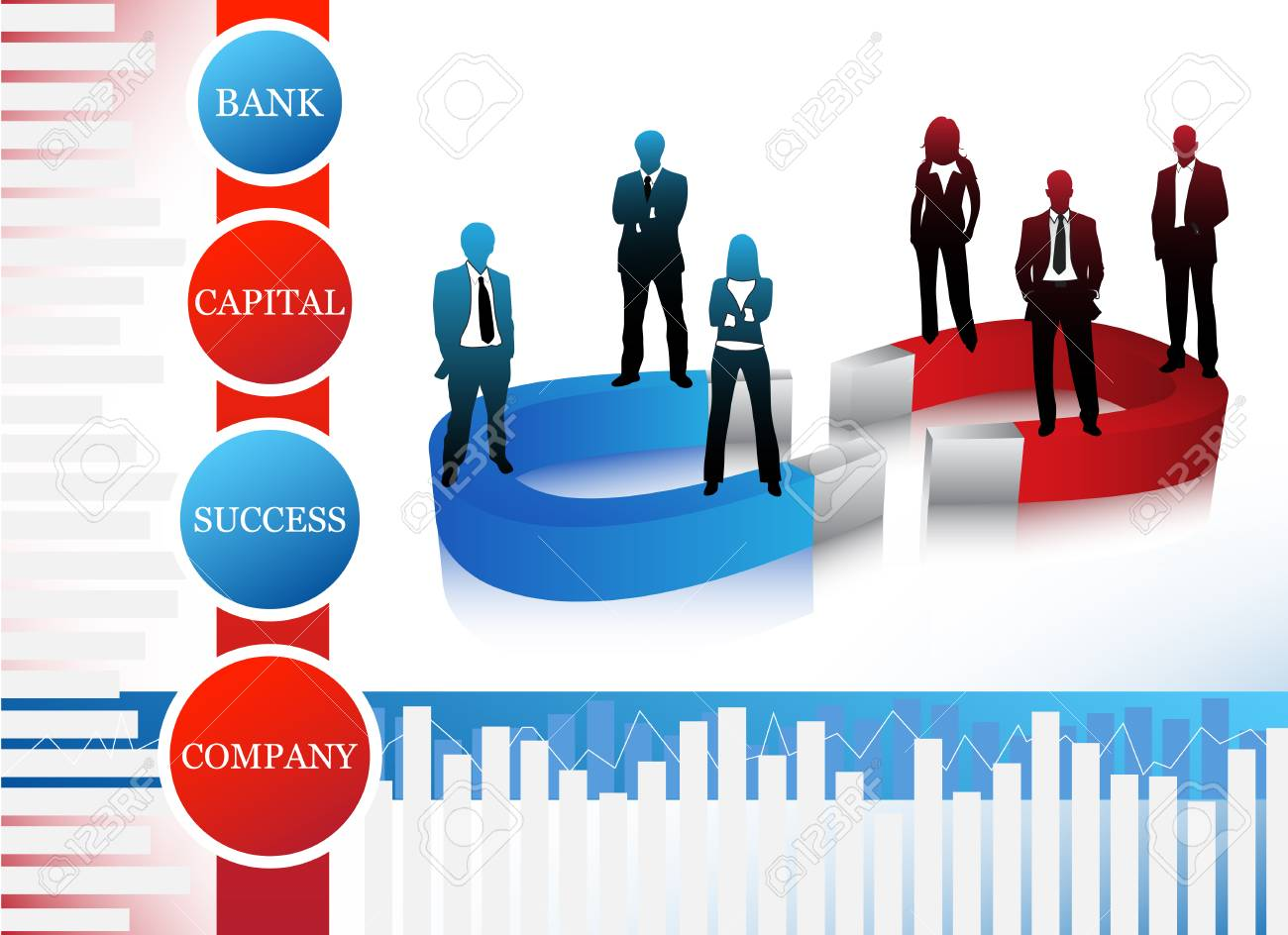 Vector illustration of business people Stock Vector - 24593395