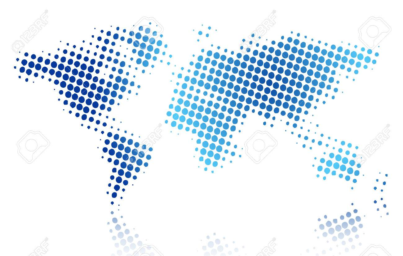 Illustration of halftone world map royalty free cliparts vectors illustration of halftone world map stock vector 24752142 gumiabroncs Image collections