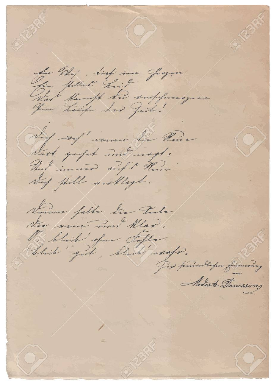 hand written poem on old paper background royalty cliparts hand written poem on old paper background stock vector 44118757