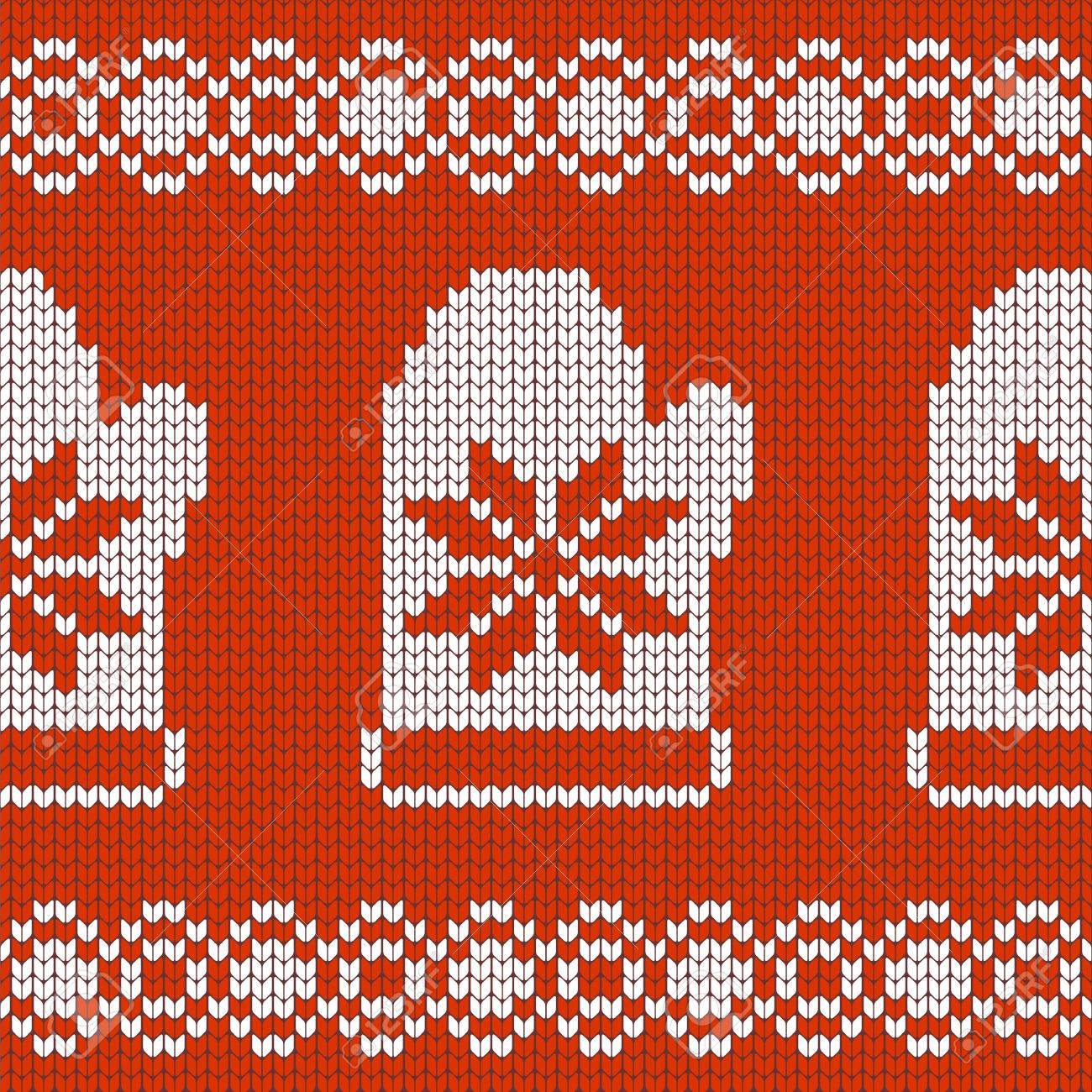 Christmas Jersey Design.Christmas Design Jersey Texture With Mittens