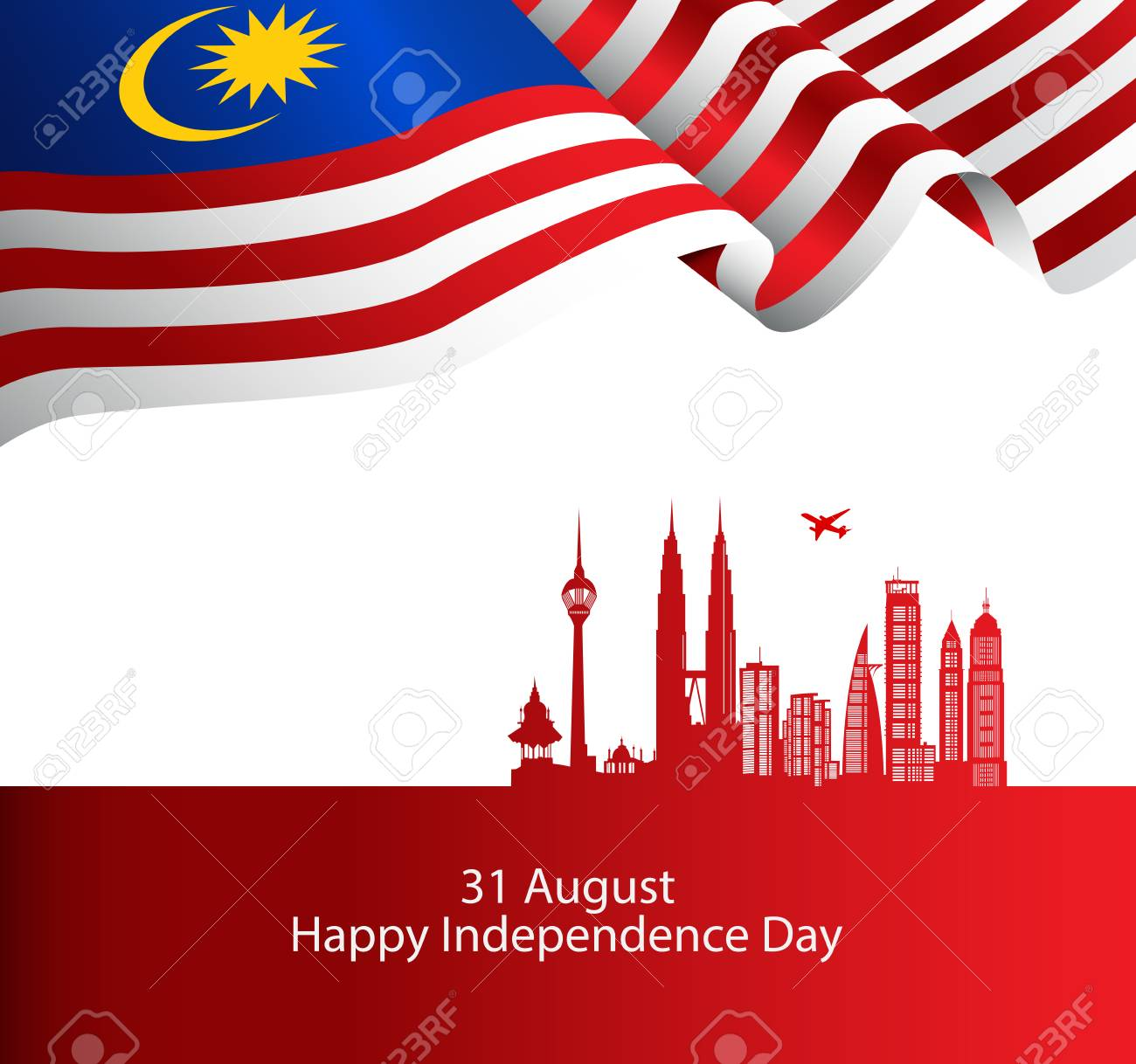 Malaysia brochure cover vector, independence day. Malaysia National Day. graphic for design element - 105399892