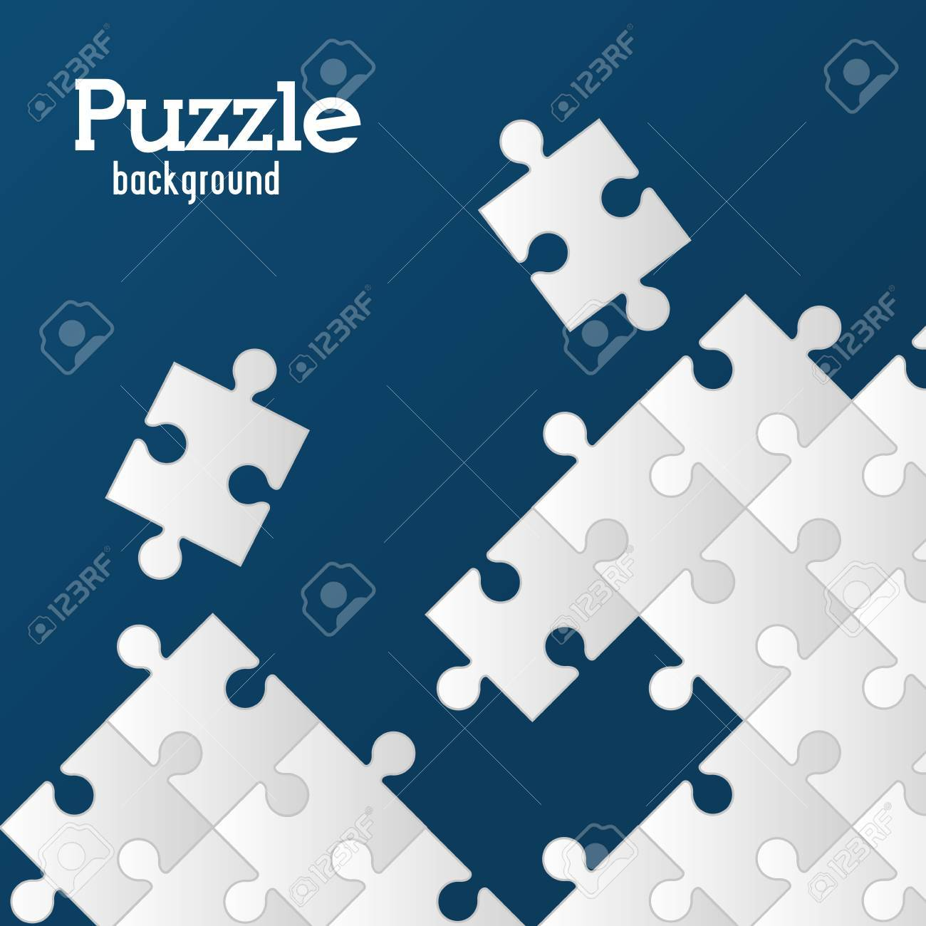 Puzzle concept with jigsaw pieces icons design, vector illustration 10 eps graphic. - 46463626