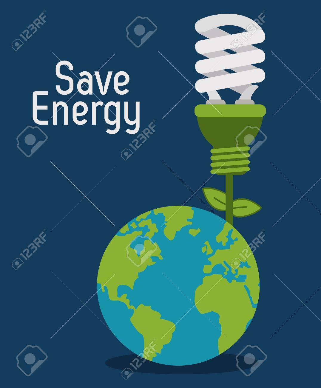 Save energy concept with eco icons design, vector illustration 10 eps graphic. - 46523650