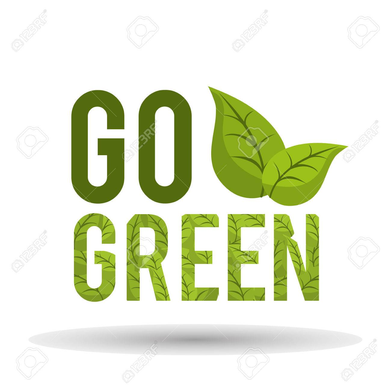 Go green concept with eco icons design, vector illustration 10 eps graphic. - 46851612
