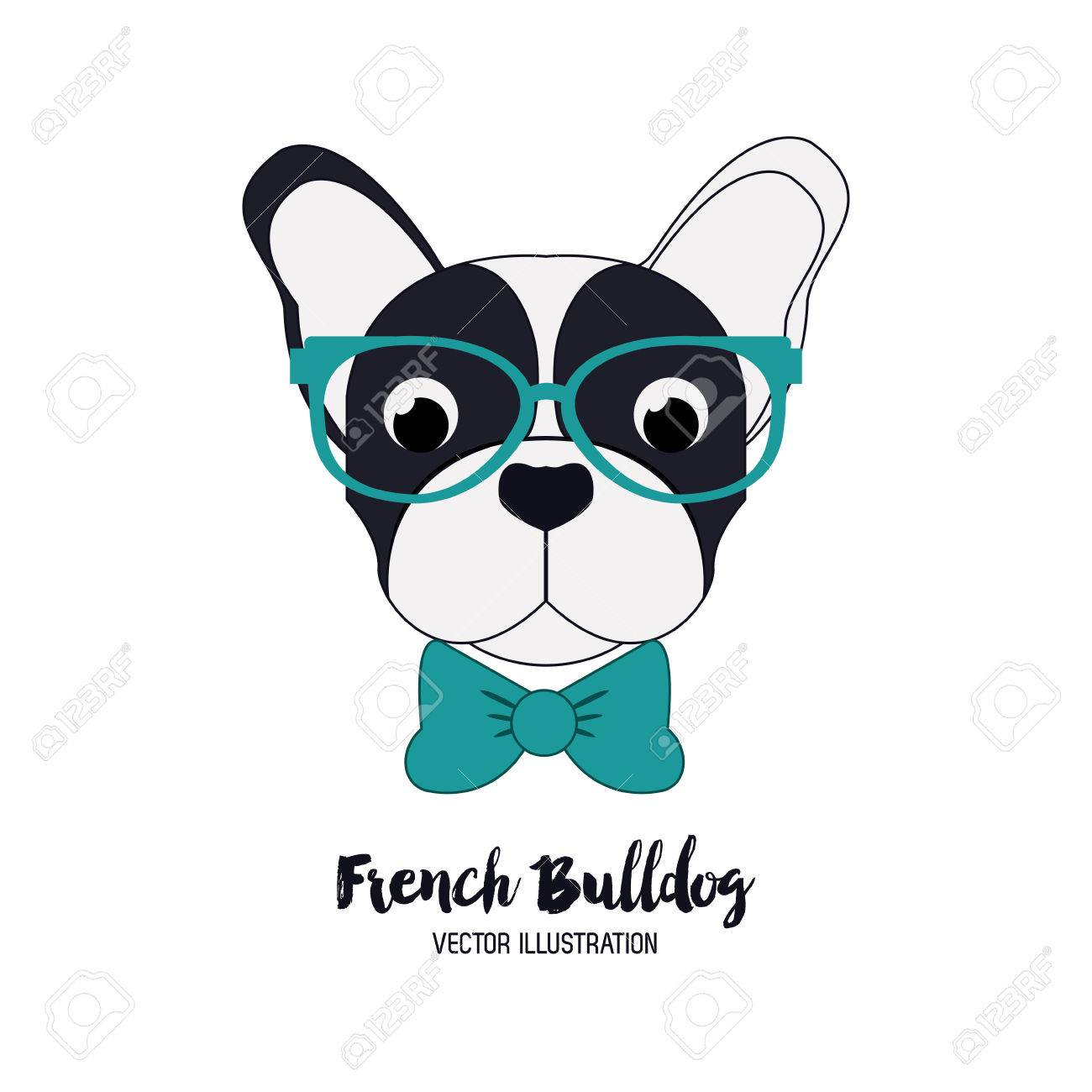 Dog concept with french bulldog icon design, vector illustration 10 eps graphic. - 54450705