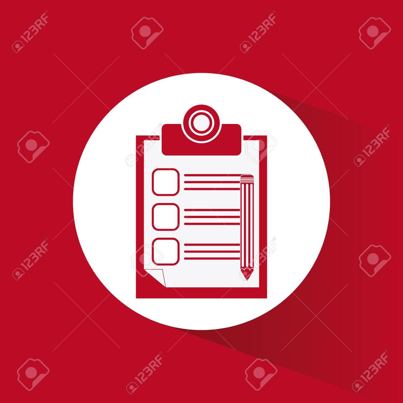 f54860056 Concepto Lista De Comprobación Con El Diseño De Iconos