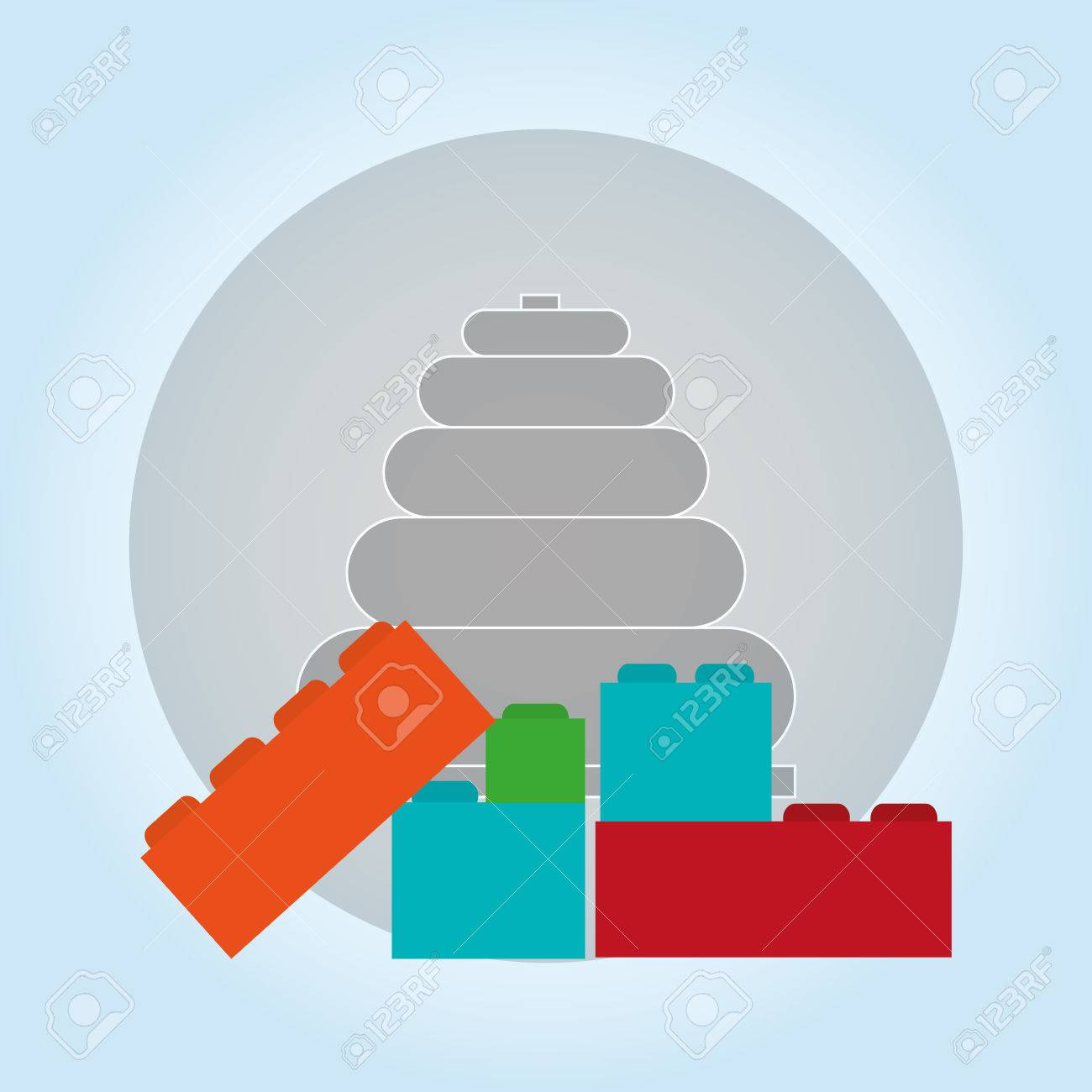 Toy concept with icon design, vector illustration 10 eps graphic. - 56730525